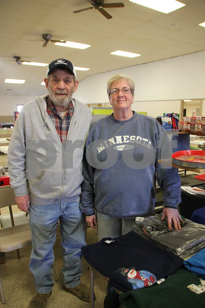 Saturday, January 9, 2016 the Webster County Fairgrounds in Fort Dodge held the Winter Flea Market. The event will go through Sunday, January 10, 2016 . Pictured here (left to right) is: Jim and Bev Jackson who were one of many vendors at the event.