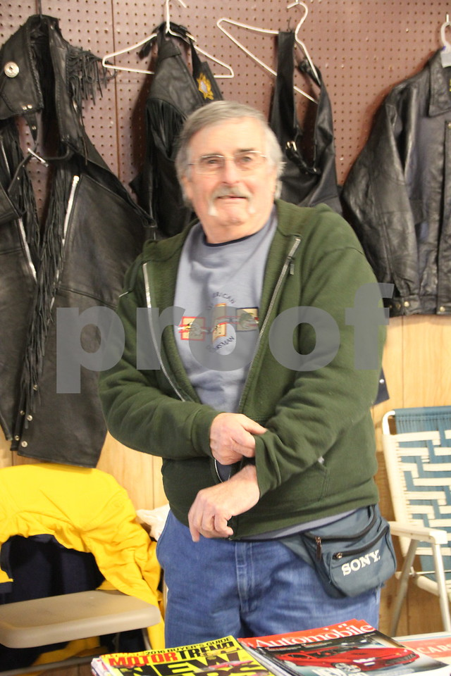 Saturday, January 9, 2016 the Webster County Fairgrounds in Fort Dodge held the Winter Flea Market. The event will go through Sunday, January 10, 2016 . Seen is: Ken Gallagher.