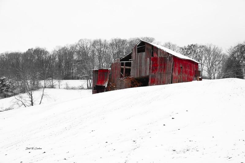 Red Barn Winter