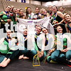 "The Winter Guard competition ""Tangled in the Vine"" took home the 1st place trophy at the NTCA competition in Scholastic A Group 3 on Birdville High School in Birdville, Texas on 4/1/16."