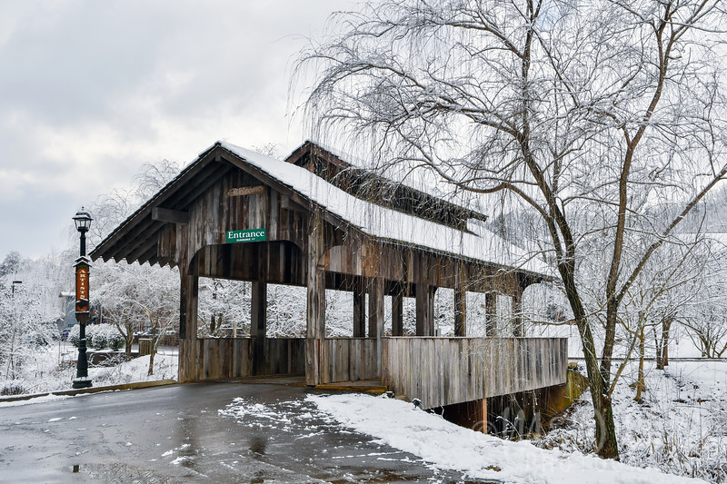 Winter At The Covered Bridge