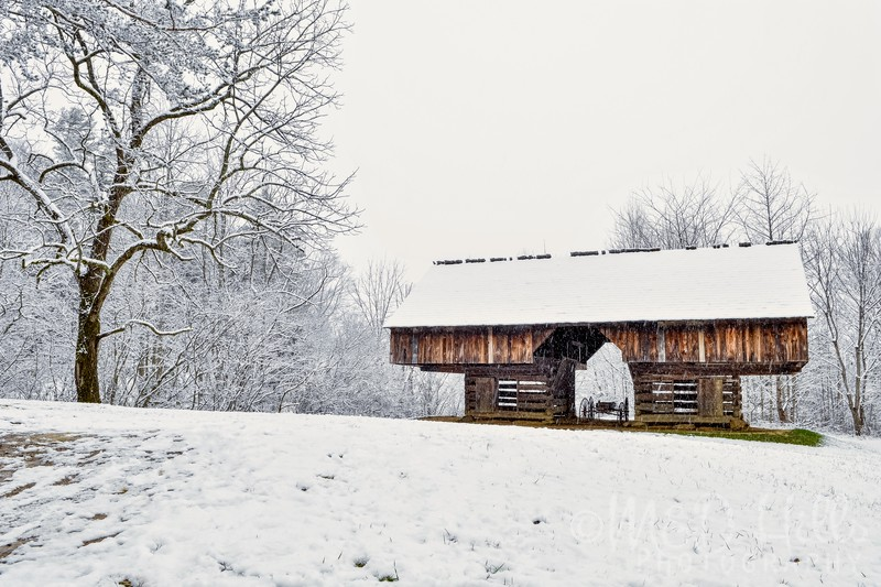 Winter At The Cantilever Barn