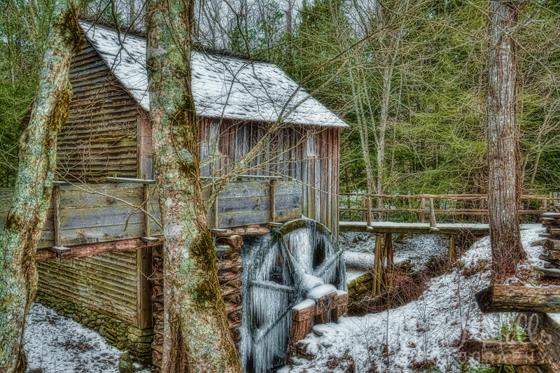 Frozen John P. Cable Grist Mill