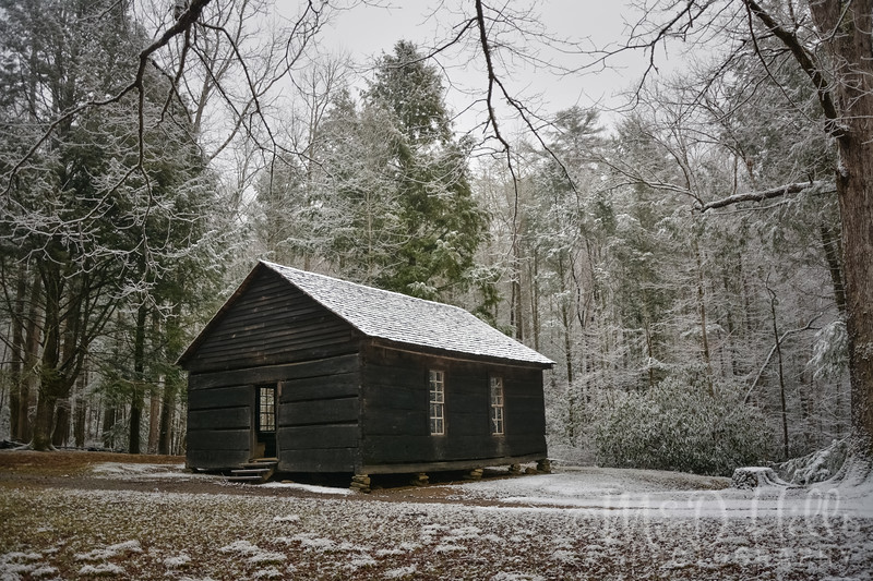The Little Greenbrier Schoolhouse - Winter