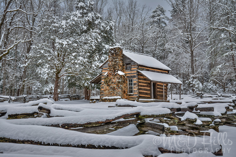 Snow At John Oliver Cabin