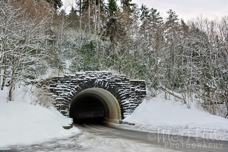 Winter Tunnel On The Gap