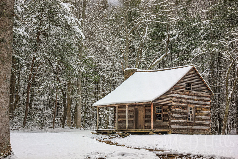 Winter At Carter Shields Cabin