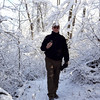 Randy Leeson on hike to the Stone House.
