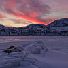 Fire in the Sky- Skaha Lake Ice