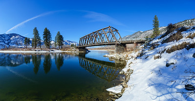 Chopaka Bridge Winter Panoramic
