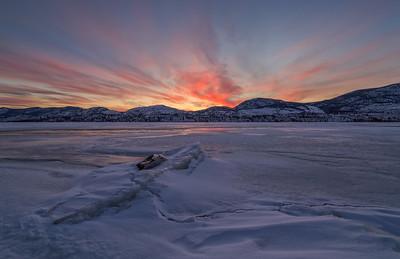Skaha Epic Winter Sunset