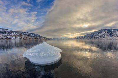 Skaha Lake Ice Mirror