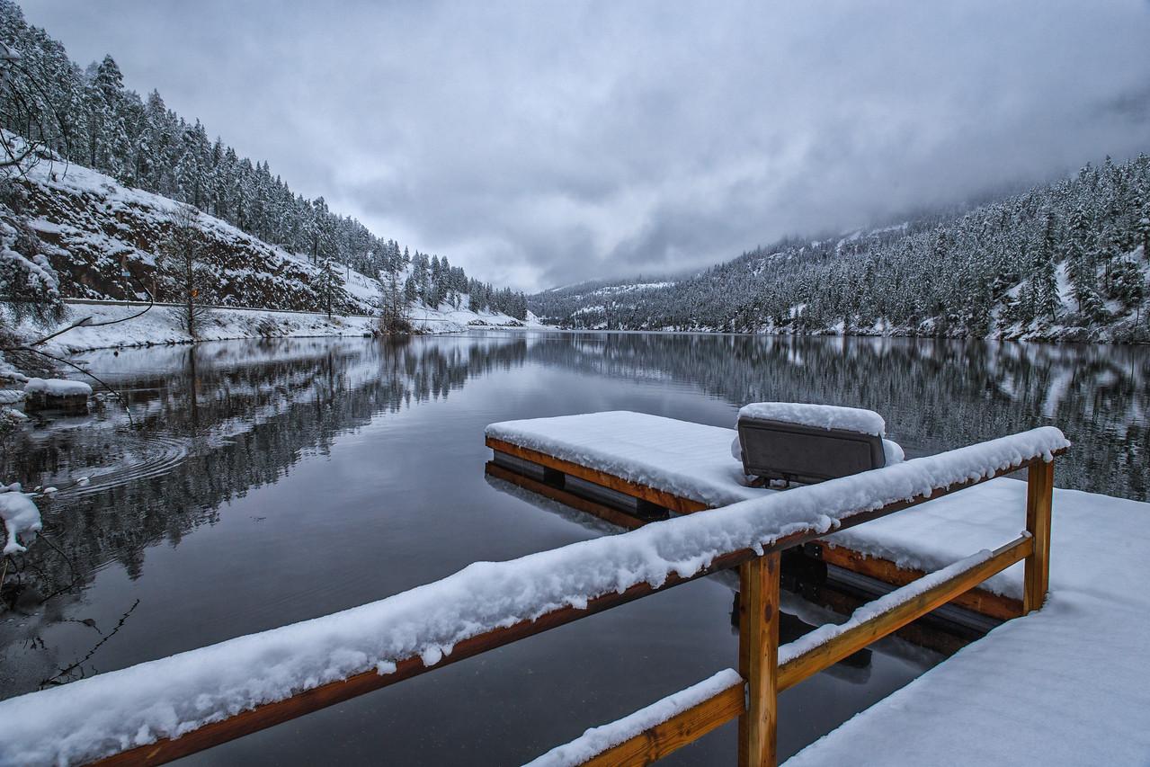 First Snow At Yellow Lake