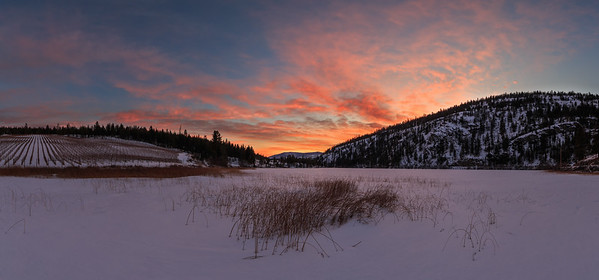 Green Lake Winter Supersunset- Panoramic