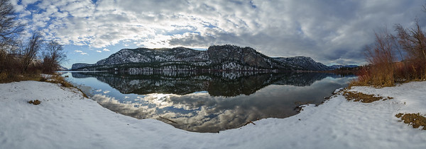 Vaseux Lake Winter Panoramic 2020