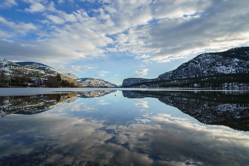 Vaseux Lake Icemelt Reflection 2020