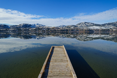 Skaha Dock Winter Sun