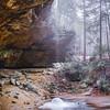 Winter Waterfall at Ash Cave