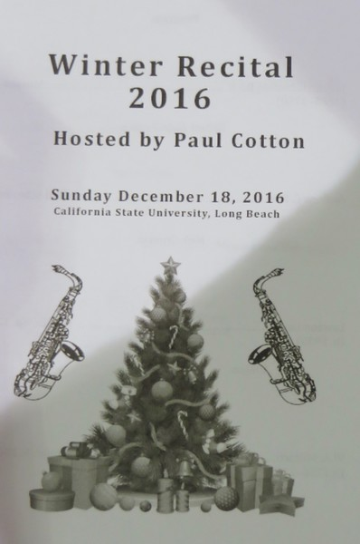 Winter Recital 2016 Hosted by Paul Cotton