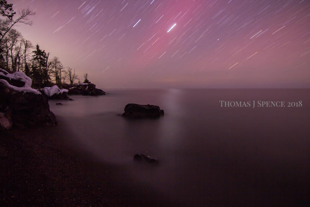 Star Trail Aurora