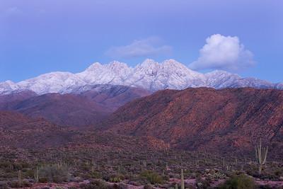Snowy Four Peaks telephoto