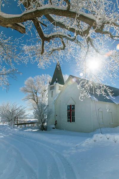 Florida Mesa Presbyterian Church winter color