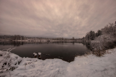 Borst Lake Snowy Morning Reflection Wide Angle 2-4-19