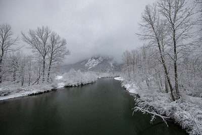 Middle Fork Snoqualmie River Snowy Morning 2-4-19