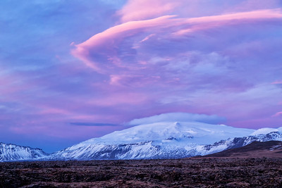 Lenticular Clouds Over Budir