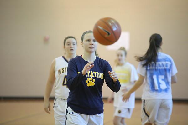 Girls Basketball: Visitation Senior Day