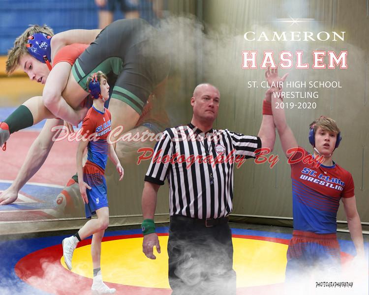 Cameron Haslem wrestling