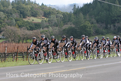 2044 The team is headed up Silverado Trail towards Calistoga