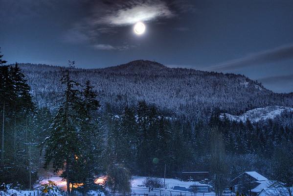Moon Over Mount Tzouhalem