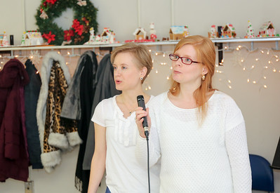 Performing at the 2016 Winter Wonderland are Amber Youell and Melanie Poulsen.  They are the daughters of the late Gary Bruce Youell and helped in his memory.  Photo by John Fitts