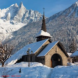 Church at Les Praz (Chamonix)