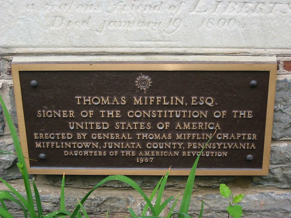 Plaque on the side of Trinity Lutheran Church, as seen on findagrave.com