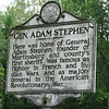 Marker at the home of Adam Stephen