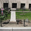 The monument to Paul Revere. The column and the adjacent small gravestone will be seen in the next two photos.