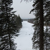 WInter View from Sam's Lookout over Swift Diamond River