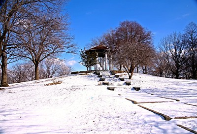 Lincoln Park in Jersey City on a Winter Day
