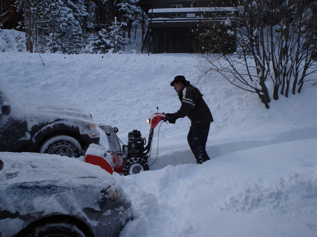 The only time the blower was used this season 02-07-2014