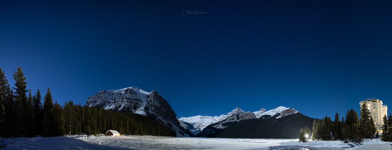 Lake Louise Nightscape Pano