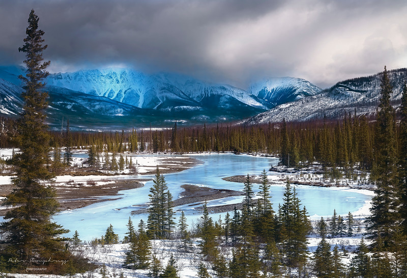 Frozen river alberta canada