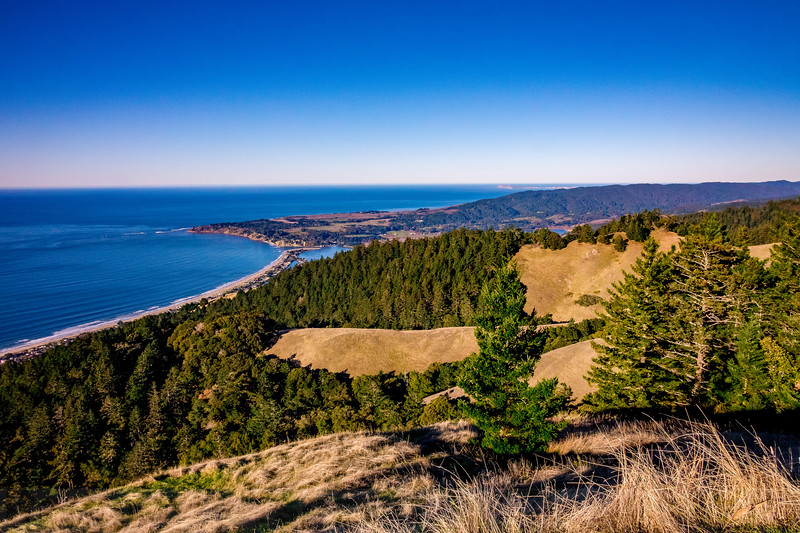Ridgecrest View: Stinson Beach and Bolinas with Point Reyes beyond