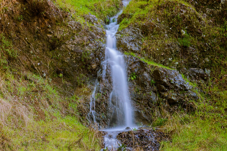 Ephemeral Waterfall along Bolinas Road