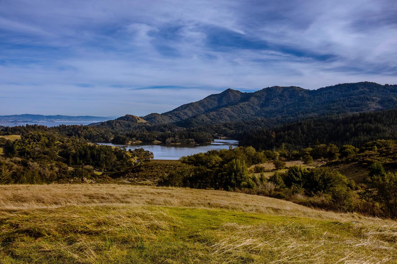 Mount Tamalpais and Bon Tempe Lake from Azalea Hill
