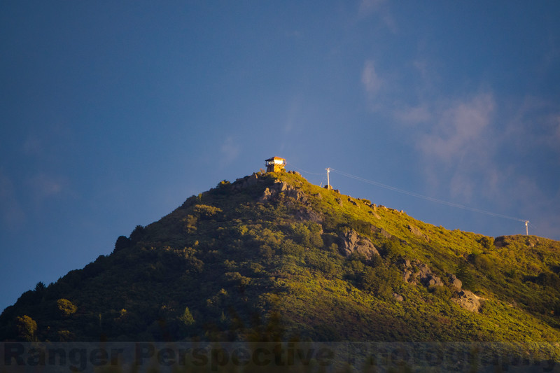 Late Afternoon Light on the East Peak of Mount Tam