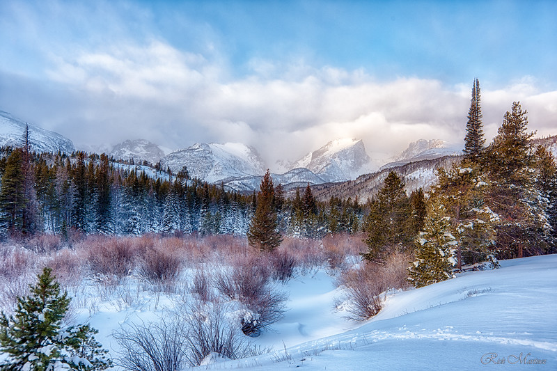Winter photos of RMNP and Estes
