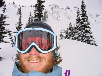 Snowboarding makes me smile.