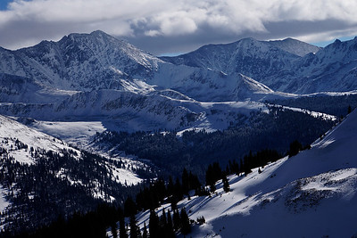 View to the south from the top of Copper Mountain, Colorado.